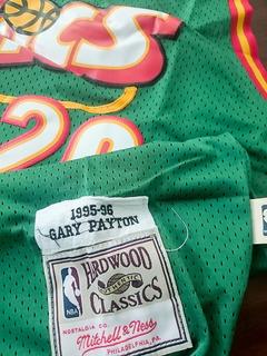 Camiseta Sonics De Seattle & Gary Payton (nba Clásica)