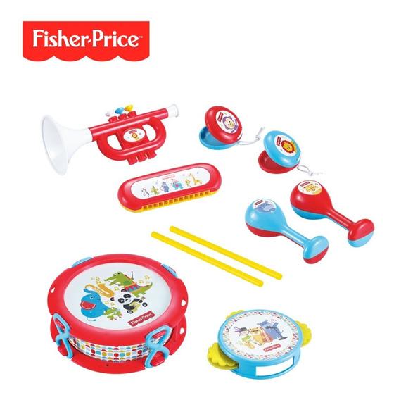 Set De Banda Musical Contiene 10 Piezas Fisher Price Dfp6610