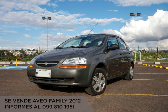 Vendo Flamante Aveo Family Año 2012