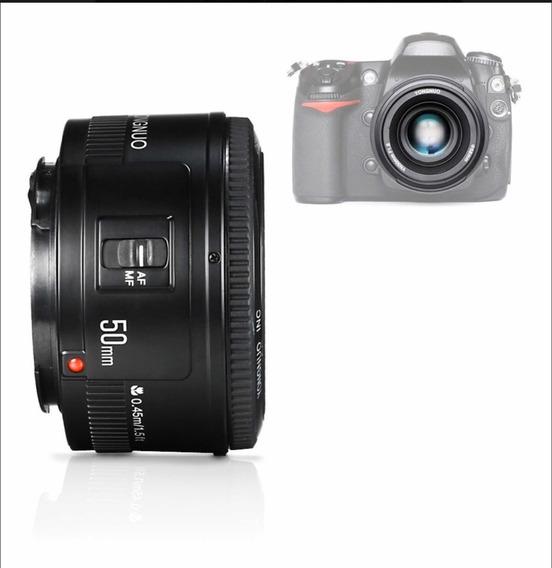 Lente Yongnuo Para Camera Canon Ef Yn-50mm F/1.8