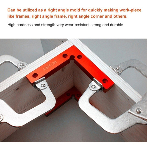 Regla de posicionamiento de /ángulo recto de 90 grados en forma de L abrazadera de fijaci/ón de panel de carpintero 140x140mm 140X140MM