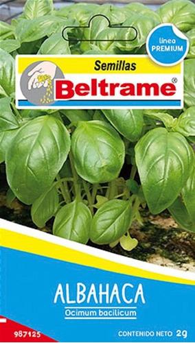 Semillas De Albahaca Aromatica Beltrame 2g Huerta
