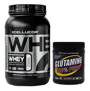 Whey Protein Cor Performance Morango 900g + Glutamine 300g