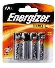 Pilhas Alcanina Energizer Max Aa4 Tecnologia Power Seal