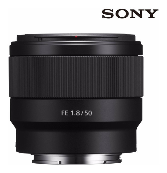 Lente Sony Sel, E-mount 50mm 1.8f Full Frame 35mm A7