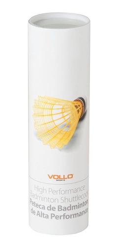 Imagem 1 de 3 de Peteca De Badminton De Nylon Kit 6 Unidades - Vollo Vb600
