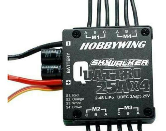 Esc Hobbywing Skywalker 4em1 2s-4s 25 A