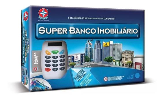 Jogo Super Banco Imobiliario Estrela Original Com Cartao