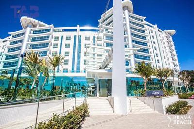 Apartamento Semi Mobiliado, Frente Mar, Para Locação No Mirage Residence, Praia Brava, Itajaí. - Ap0679