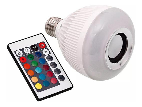 Caixa De Som Bluetooth E Lampada Multi Led Wj-l2 C/ Controle