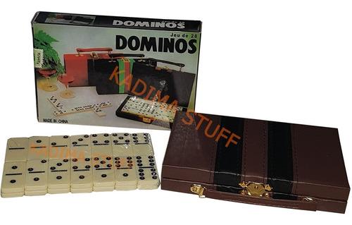Juego De Domino Doble 6 En Maletin Chico Bisonte Original