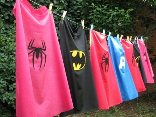 Capas Superheroes Niños Fiestas Infantiles