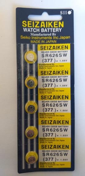 Cartela De Bateria Para Relógio Seizaiken 377 Com 05 Unidade