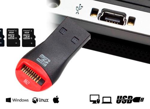 Lector De Memoria Micro Sd Adaptador Usb Tipo Pendrive.
