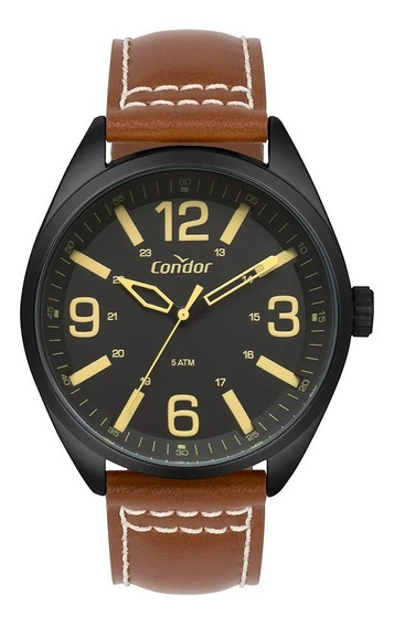 Relógio Condor Masculino Couro Marrom Co2035mpe/2p