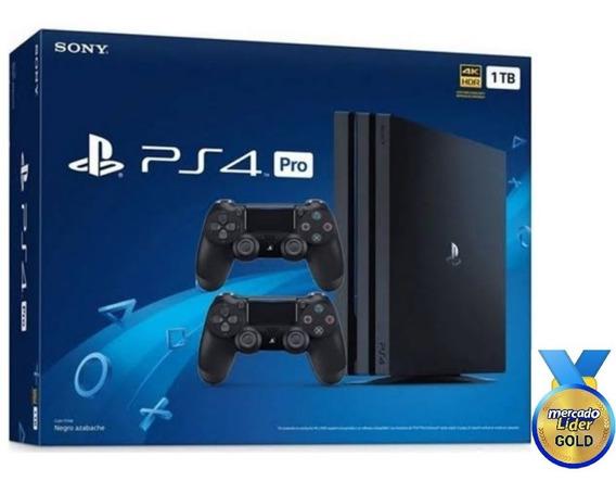 Playstation 4 Pro 1tb Ps4 4k Novo Lacrado 2 Controles Lojasp