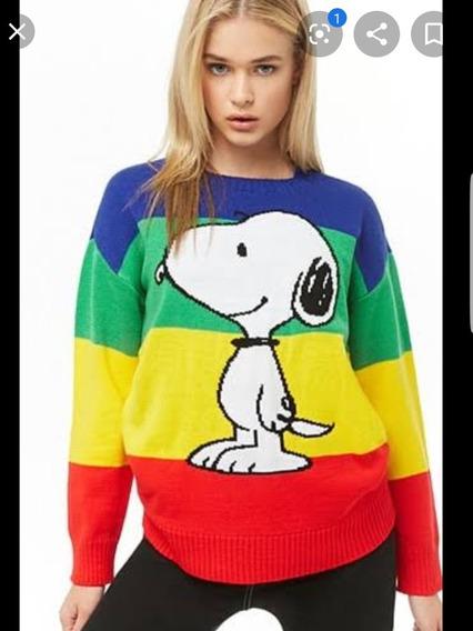 Forever 21 Suéter Edición Snoopy/peanuts Talla Chica