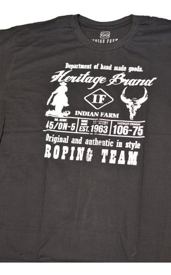 Camiseta Gola Careca - Longhorn Team Roping Lançamento