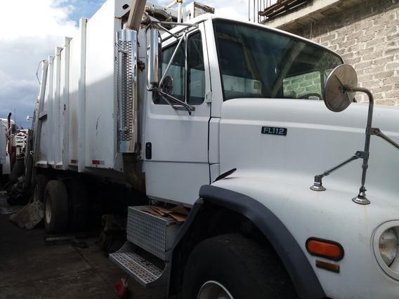 Corte De Camion D Basura Ameriano Freightliner Fl 112 Torton