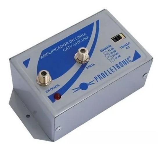 Amplificador Tv Digital Proeletronic 20db Uhf Pqal-2000
