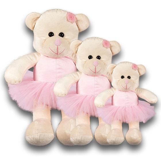 Trio De Urso Bailarina Para Nicho E Decoração Do Quarto Bebê