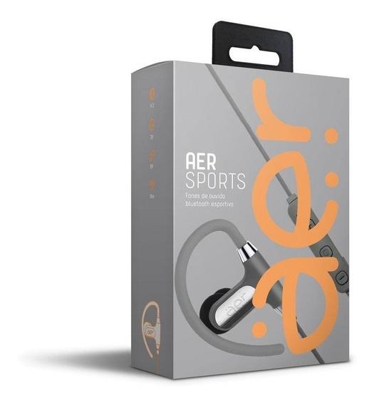 Fone De Ouvido Esportivo Aersports Bluetooth Prata Aer02g