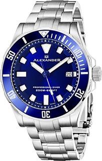 Alexander Professional Diver Reloj Para Hombre Blue Face Zaf