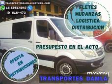 Fletes Y Mudanzas Al Mejor Precio!!! Zona Sur- Capital