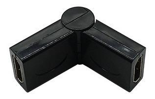 Adaptador Emenda Hdmi Flexível Femea X Femea 180 Graus