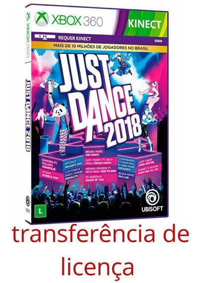 Just Dance 2018 Xbox 360 Midia Digital, Envio Imediato