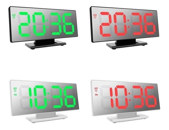 Relógio Led Digital Espelhado Com Despertador