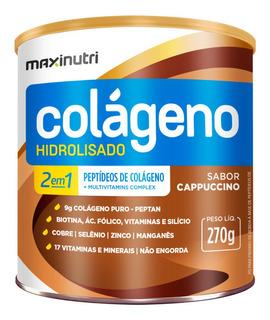 Colágeno Hidrolisado 2 Em 1 Cappuccino Maxinutri 270g