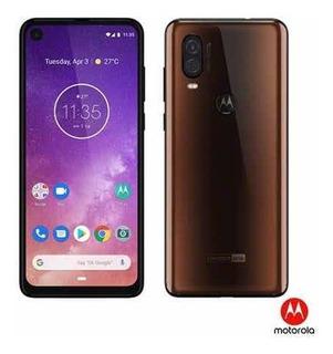 Celular Motorola One Vision Dual Sim Bronze 128gb 4gb Ram