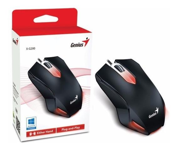 Mouse Genius Gamer Optico X-g200 Usb 1000dpi Preto