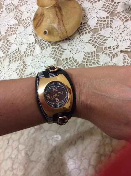 Relógio Puma Marrom E Branco