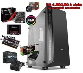 Desktop Gamer Ryzen 3 2200g/16gb Ddr4/rtx 2060 6gb/ssd 480gb