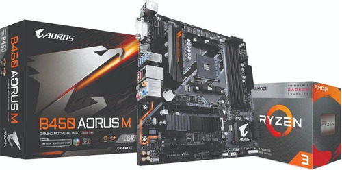 Kit Amd Ryzen 3 3200g 3.6ghz Gigabyte Aorus B450 Gaming M