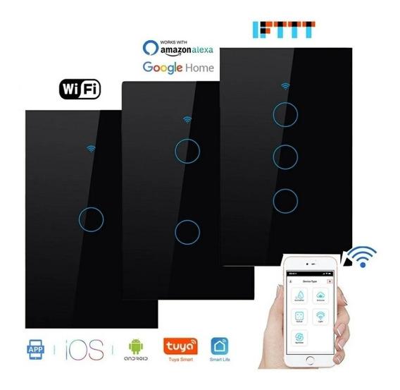 Apagador Wifi Smartlife De Lujo Cristal Negro Automatizacion