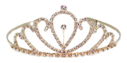 1 Tiara Noiva Pente Strass Coroa Princesa Noiva Casamento A-