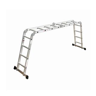 Escalera Aluminio Multifunción Kushiro Plegable 3x4