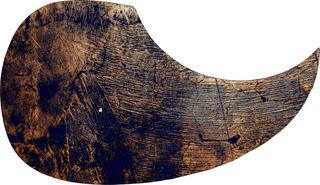 Escudo Palheteira Resinada Violão Aço Sônica Dark Wood
