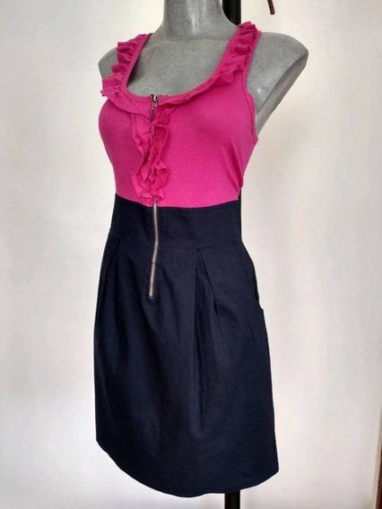 Be Bop. Mini Vestido Bicolor Xs- S