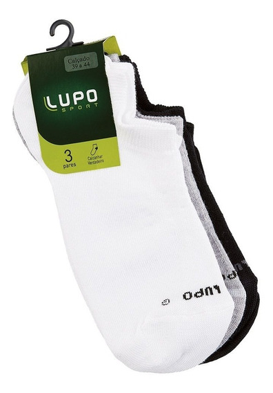 Meia Lupo Sport Soquete Invisível A. Kit C/ 3 Unid. Original
