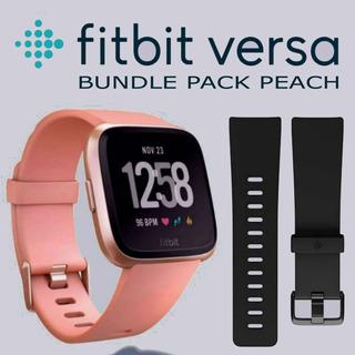 Reloj Deportivo Inteligente Fitbit Versa Melocotón Oro Rosa