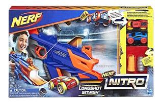 Nerf Nitro Longshot Smash + 2 Autos Hasbro Original