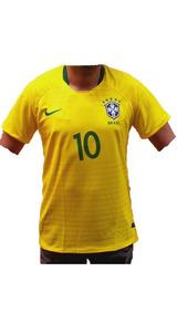 Camiseta Camisa Brasil Seleção Neyma 10 Masculina.