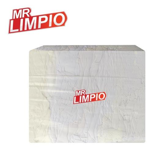 Imagen 1 de 2 de Mr. Limpio - Trapo Blanco Algodón Pqte. De 10 Kilos