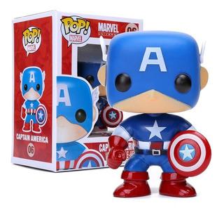 Muñeco Funko Pop #06 Capitan America Edición Especial Marvel