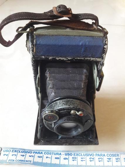 Câmera Fotográfica Antiga Zeiss Fole Decoração Leia Descriçã