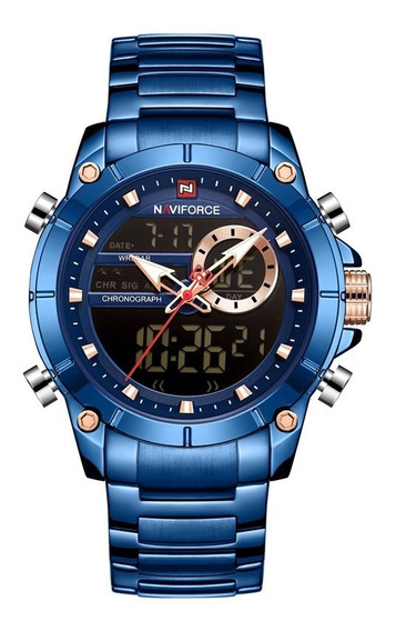 Relógio Masculino Naviforce 9163 Original Esporte Fino Luxo